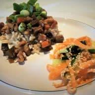 Koreansk mad vegetarret bulgogi