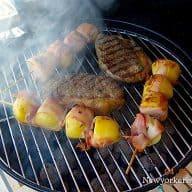 kartoffelspyd med bacon og rosmarin
