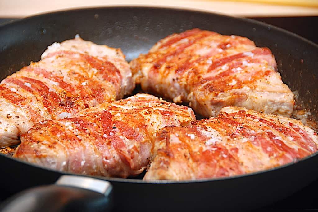 Koteletter med bacon - de lækre baconkoteletter