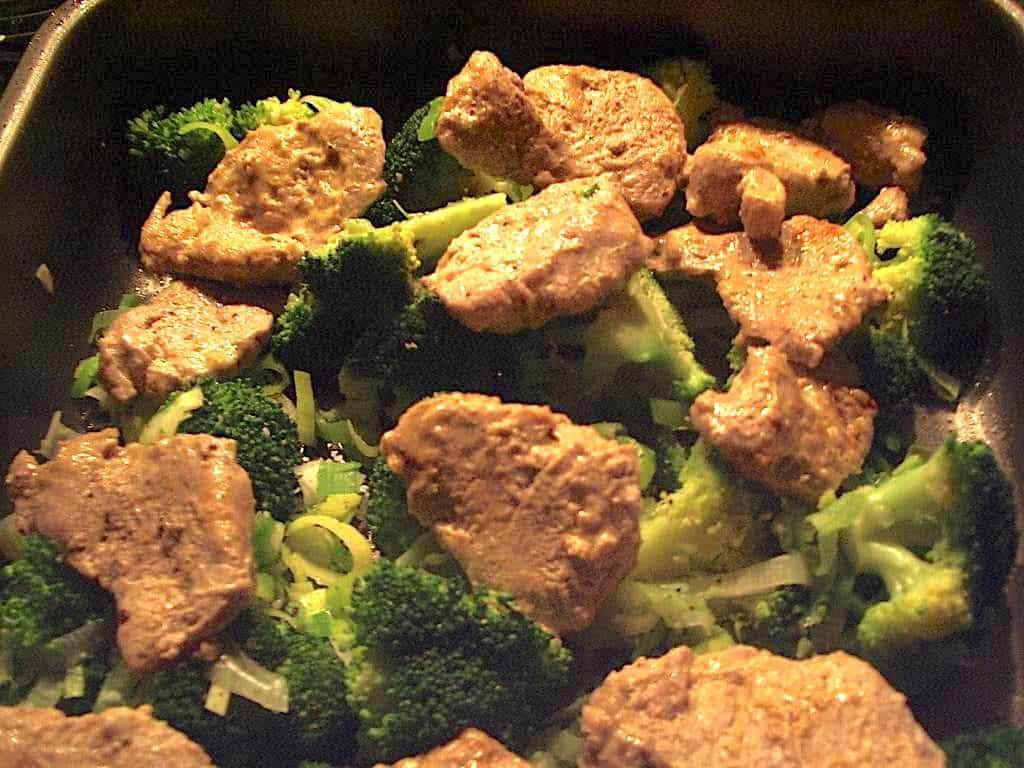 Mørbradfad med grøntsager - god ret som gæstemad