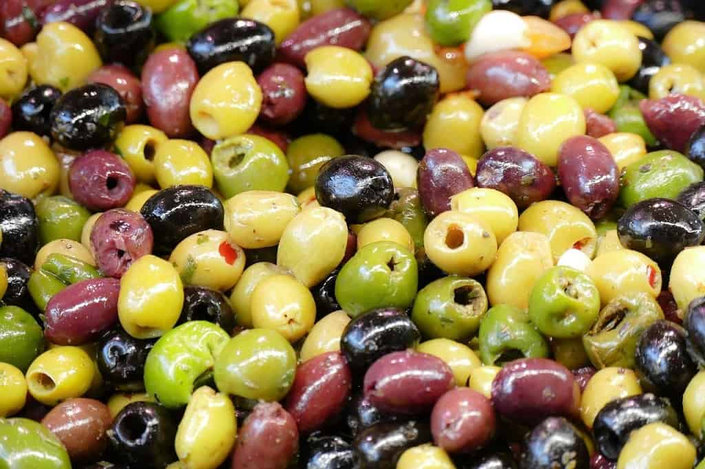 Oliven i alle farver
