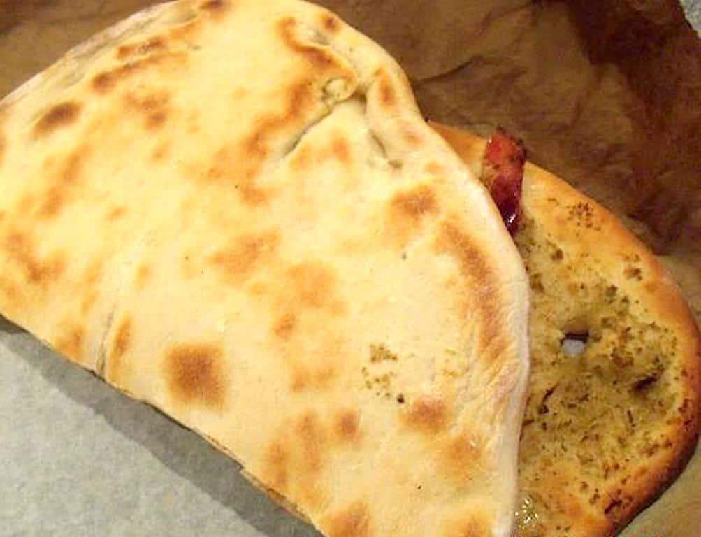Pizzasandwich med artiskok og gorgonzola