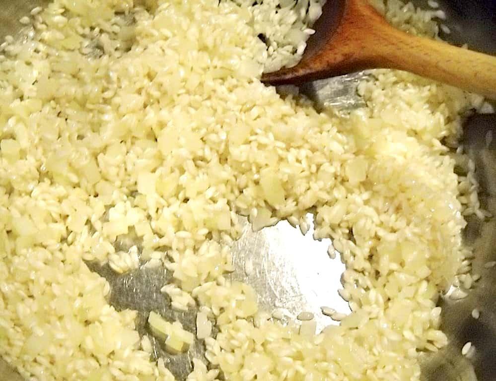 Italiensk risotto med bladselleri og vermouth