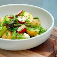 Salat med kogte kartofler