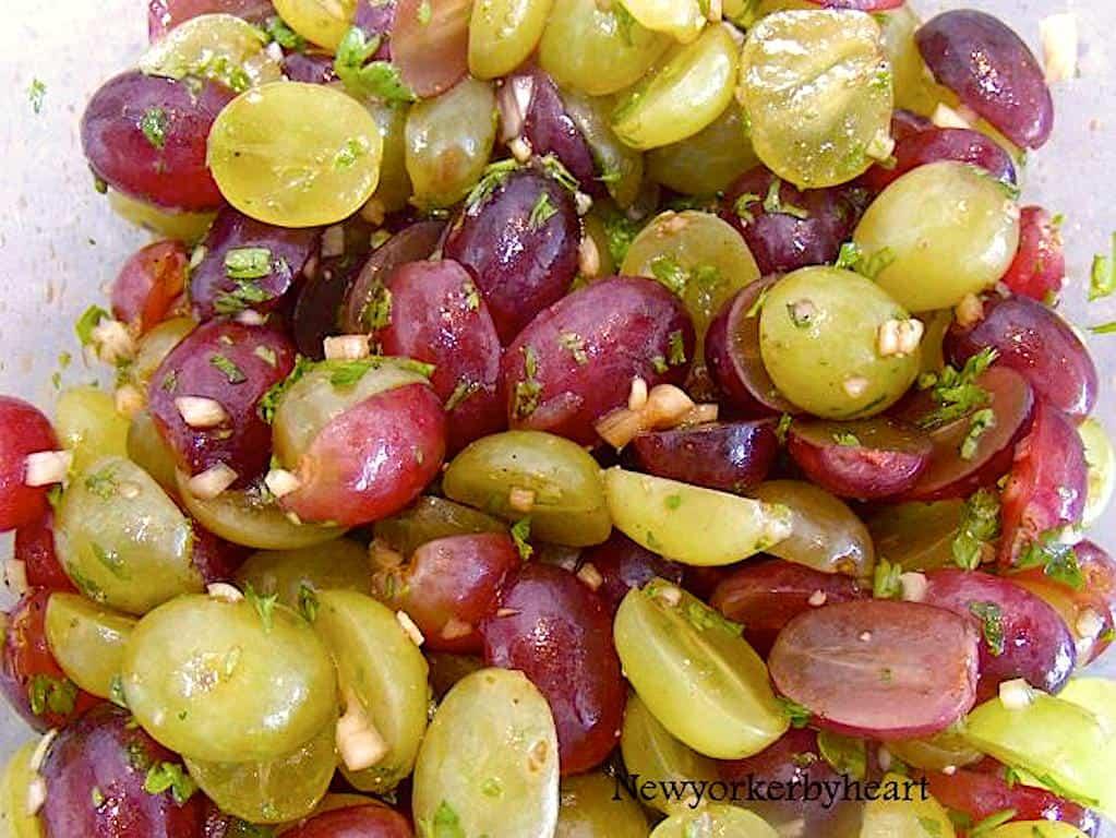 Vindruesalsa - nem salsa lavet med stenfri vindruer