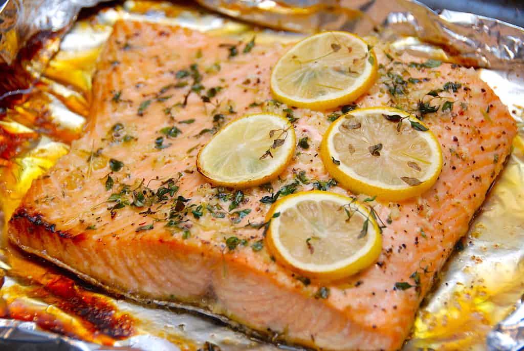 billede til aftensmad med fisk