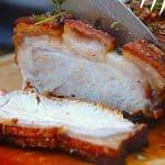 billede med BBQ flæskesteg til grill eller ovn