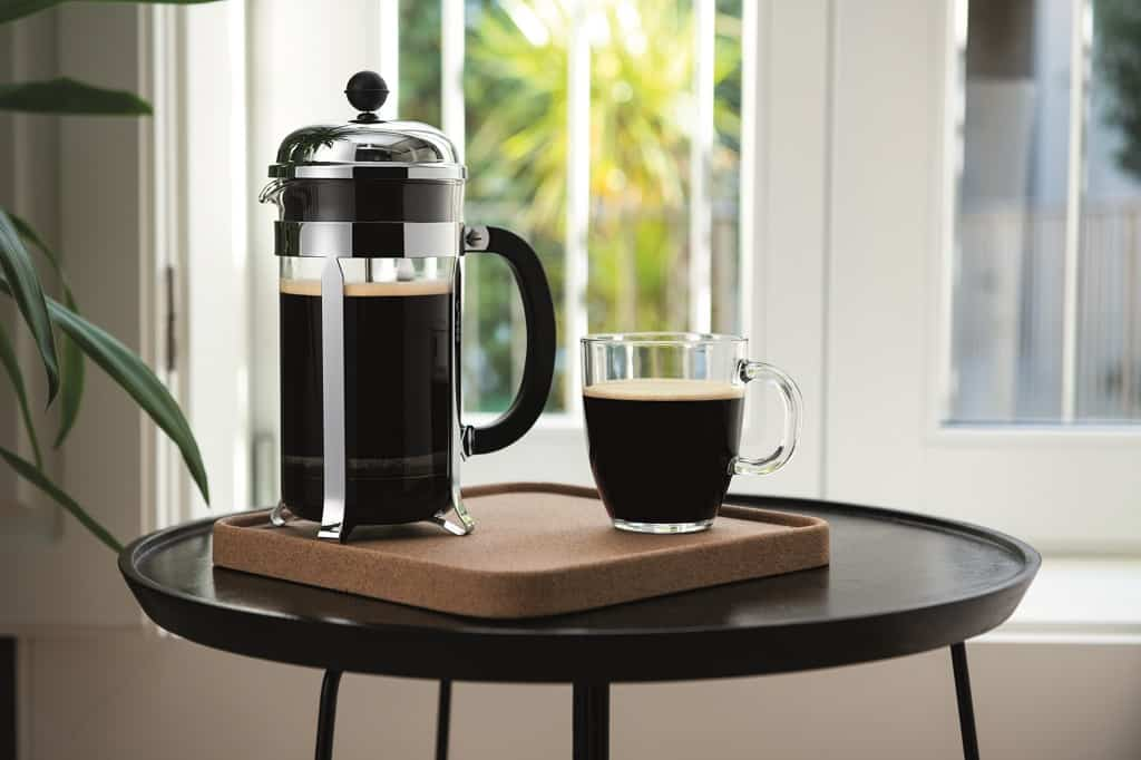 Stempelkaffe i en Bodum stempelkande