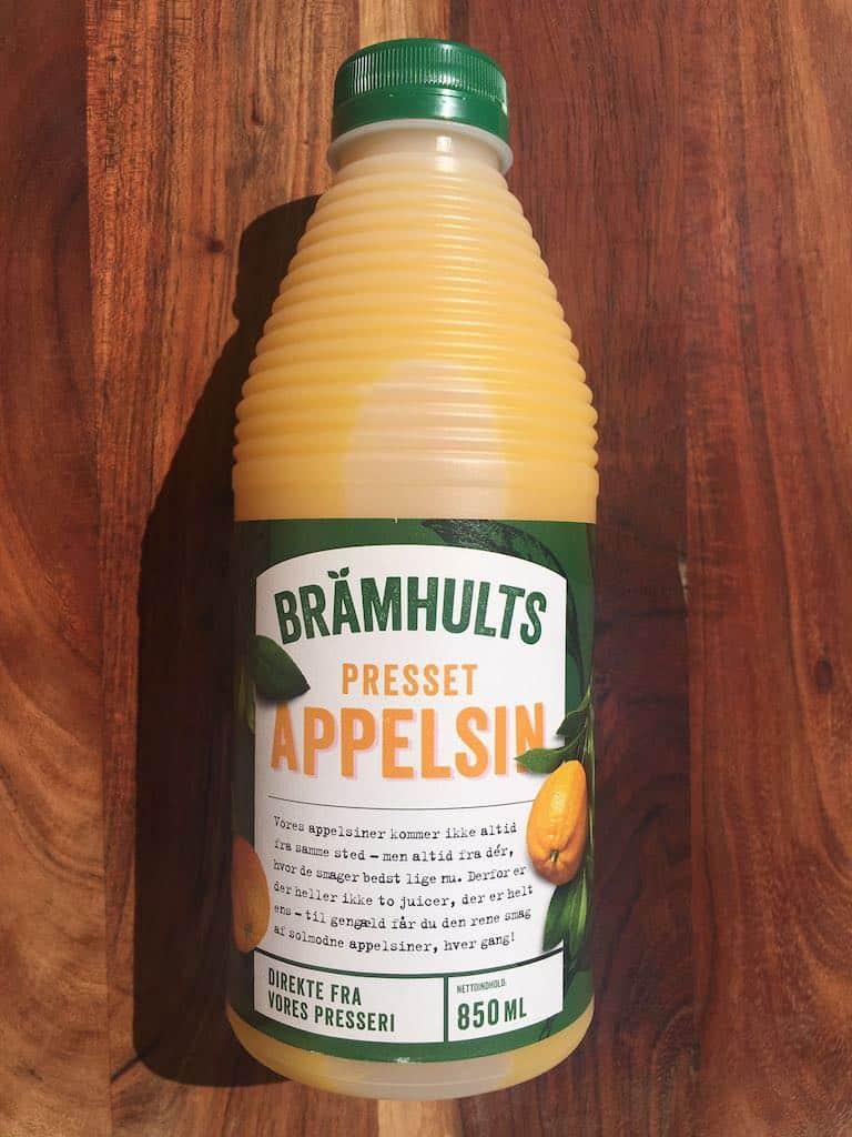 Smagstest af appelsinjuice, Brämhults