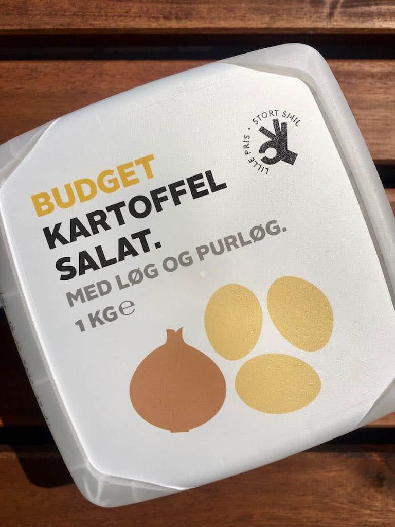 Smagstest af kartoffelsalat, Budget
