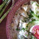 billede med dansk kartoffelsalat