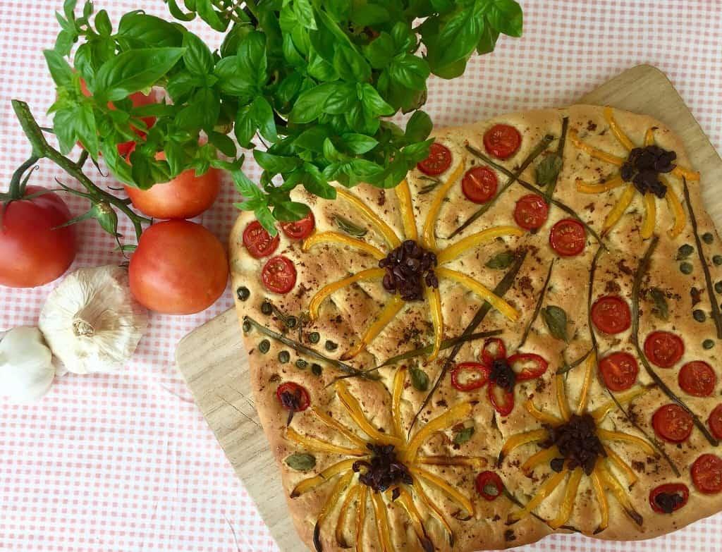 Blomsterfocaccia - et spiseligt kunstværk