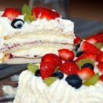 klassisk lagkage med bær