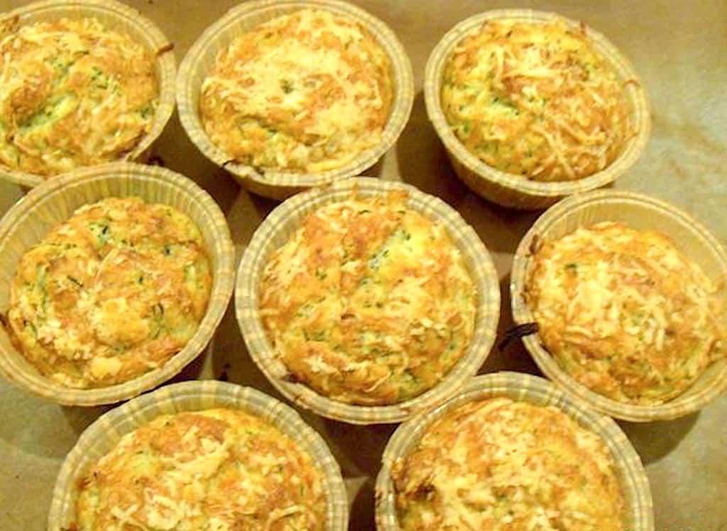 Muffins med squash og hvidløg - madbrød uden hævning