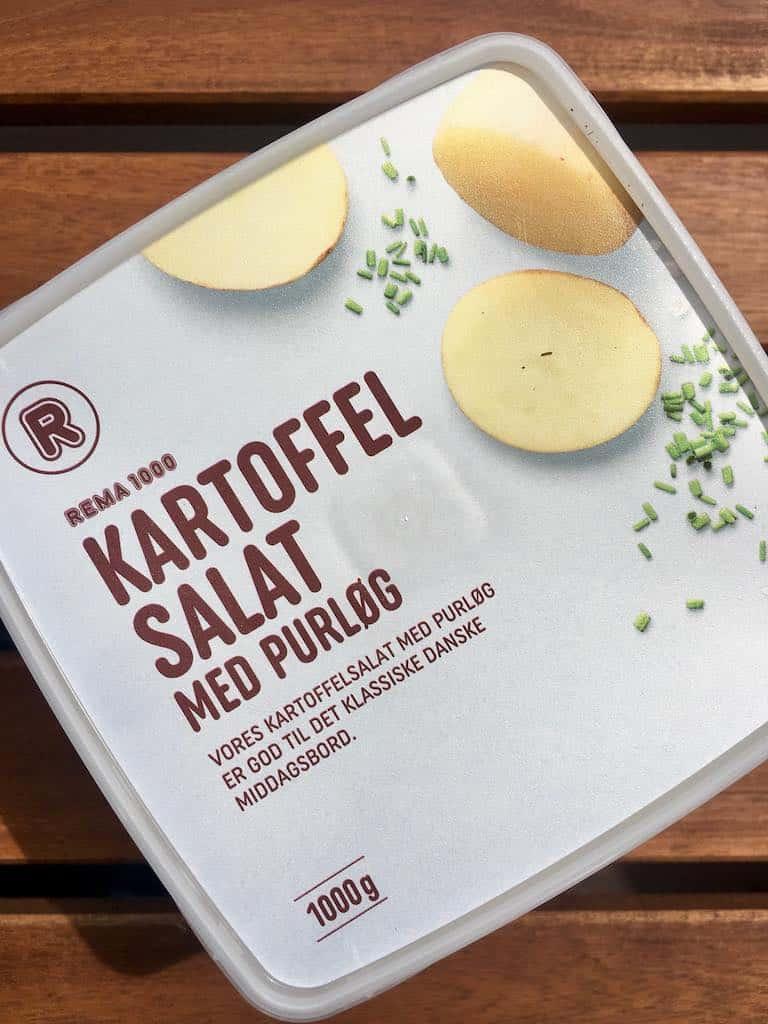 Smagstest af kartoffelsalat, Rema 1000