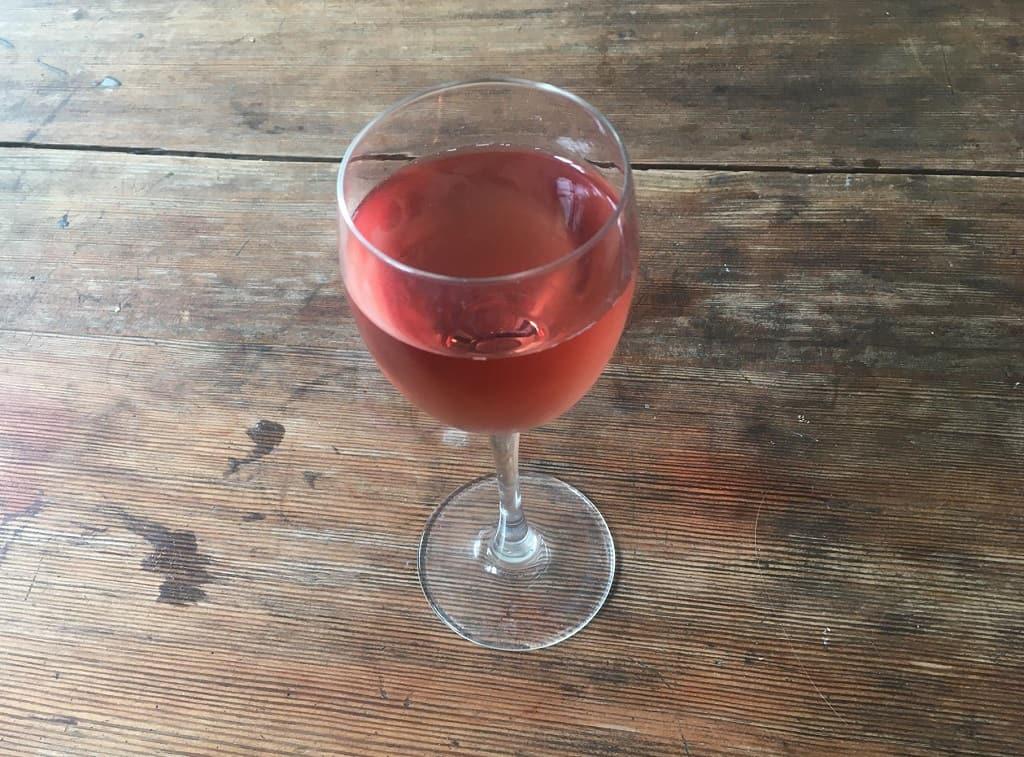 Et glas rosé
