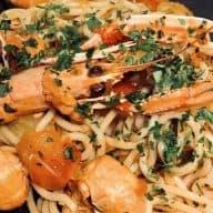 Spaghetti i jomfruhummersauce