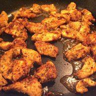 billede med tyrkisk kyllingekebab