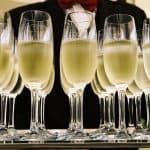 Glas med champagne