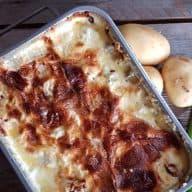 billederesultat for flødekartofler med feta og tomater