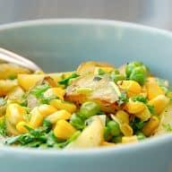 billede med grøn kartoffelsalat