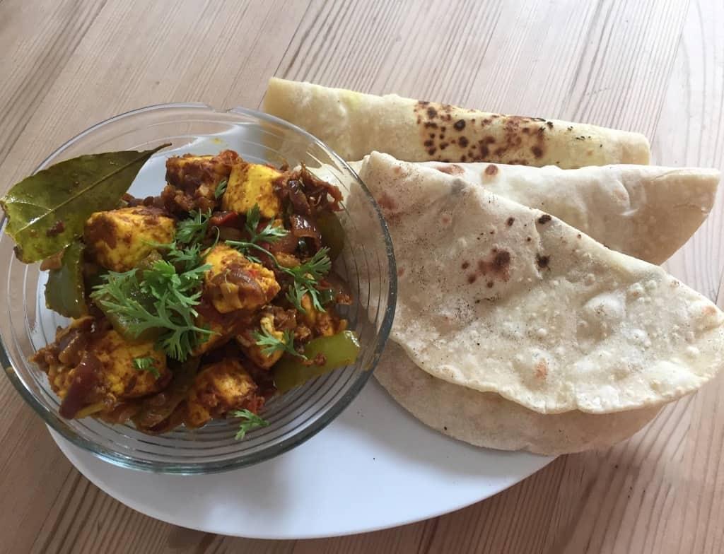 Hurtig vegetarret - Paneer Capsicum fra Indien