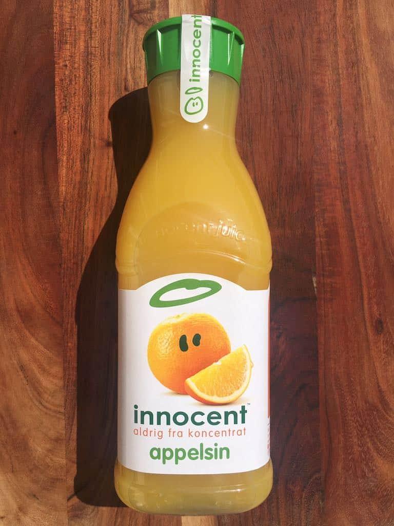 Smagstest af appelsinjuice, Innocent