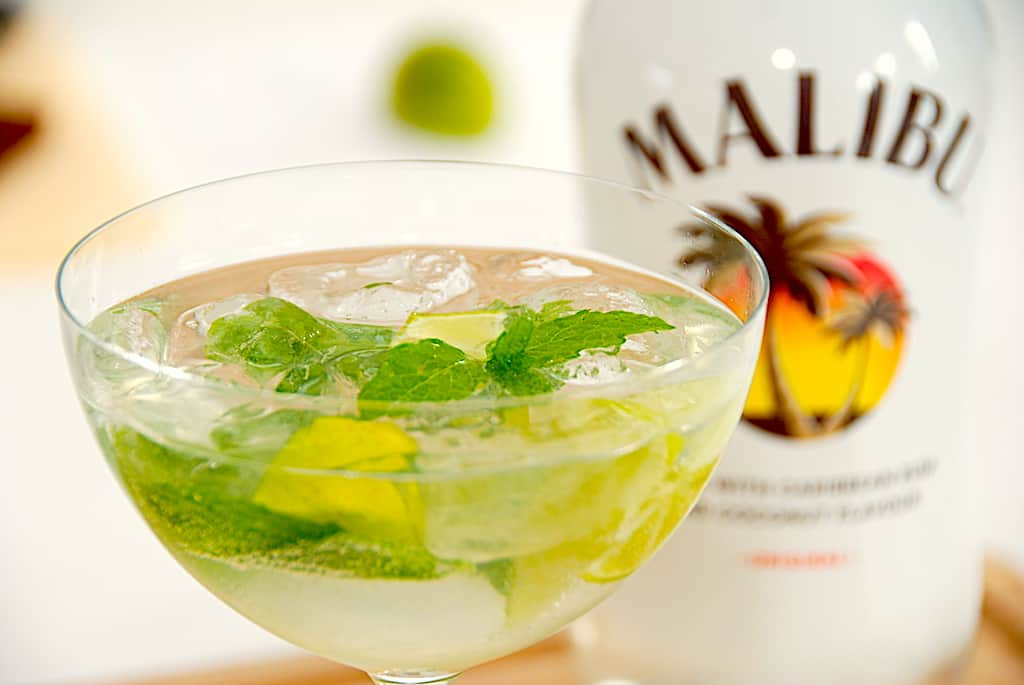 Malibu mojito - lækker drink med Malibu kokoslikør