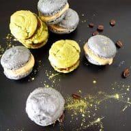 Macarons med matcha