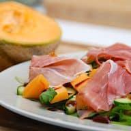 billederesultat for melonsalat med parmaskinke