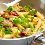 billederesultat med pasta med bacon og spidskål