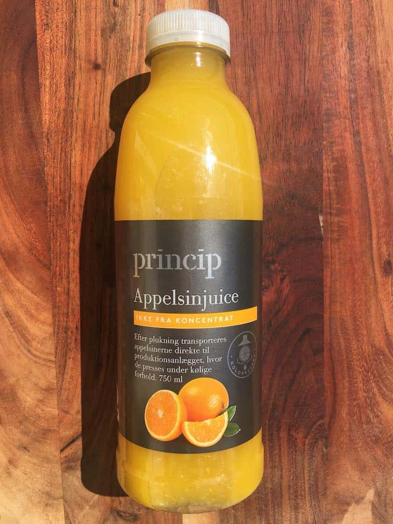 Smagstest af appelsinjuice, Princip