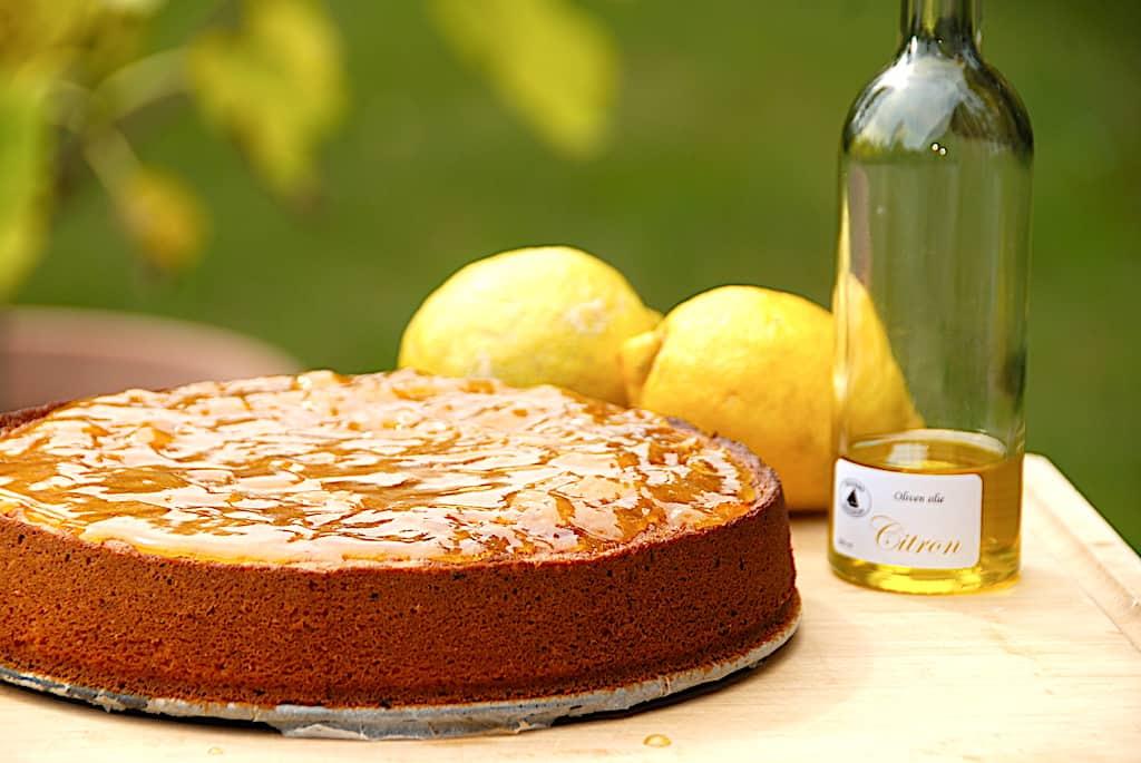 Siciliansk citronkage med appelsinglasur