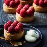 Små hindbærtærter