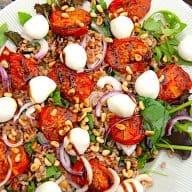 billederesultat for speltsalat med bagte tomater