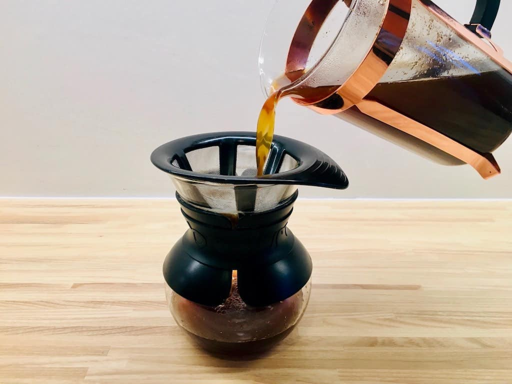 Du kan sagtens lave din egen cold brew kaffe. Metoden er simpel og din næse og smagsløg vigtige redskaber, når du skal lave den. Foto: Charlotte Mithril / Madensverden.dk