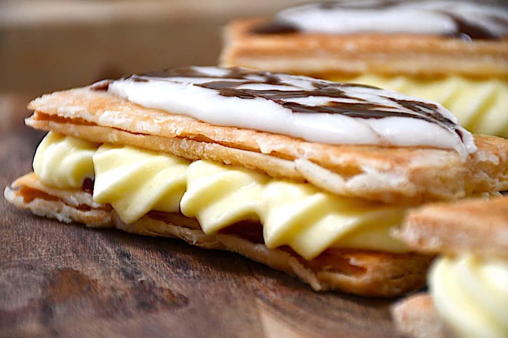 Napoleonskager - nem opskrift på kager med butterdej