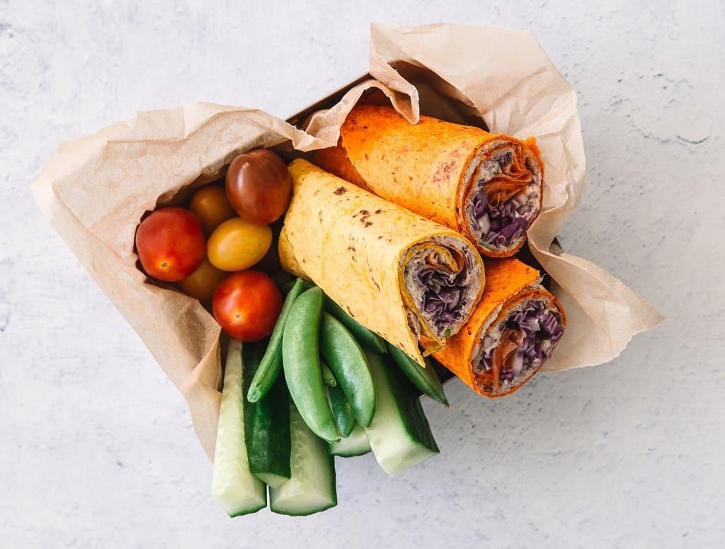 Frokostwraps med tunsalat - mad på 5 minutter