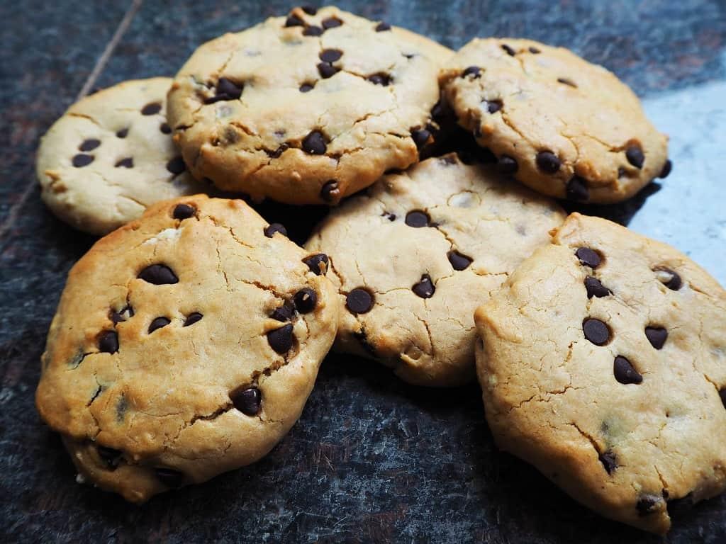 Cookies uden æg - sprøde chocolate chip cookies