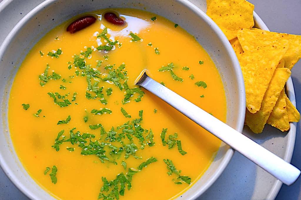Mexicansk suppe med græskar og chili