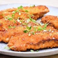 billederesultat for pankopaneret kylling