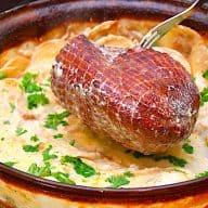 billederesultat for skinke med flødekartofler