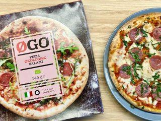Tjek ingredienslisten på din frysepizza, hvis du vil undgå tilsætningsstoffer, palmeolie, dårlig ost og ringe kød. Vælg for eksempel de økologiske varianter som denne fra ØGO. Foto: Charlotte Mithril