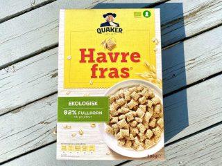 Havrefras har eksisteret i Skandinavien siden 1959 og fås i dag også i en økologisk udgave. Det bærer Nøglehullet og anses derfor som et sundt morgenmadsprodukt. Foto: Charlotte Mithril / Madensverden.dk