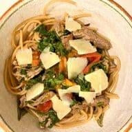 Straccetti med pasta