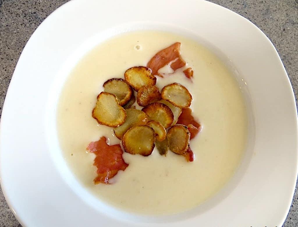 Rodfrugtsuppe - cremet suppe med jordskokker