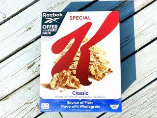 Kellogg's Special K markedsføres på indholdet af kostfibre, men indeholder kun 4,8 % kostfibre, hvilket ikke er nok til det grønne Nøglehulsmærke. Foto: Charlotte Mithril / Madensverden.dk