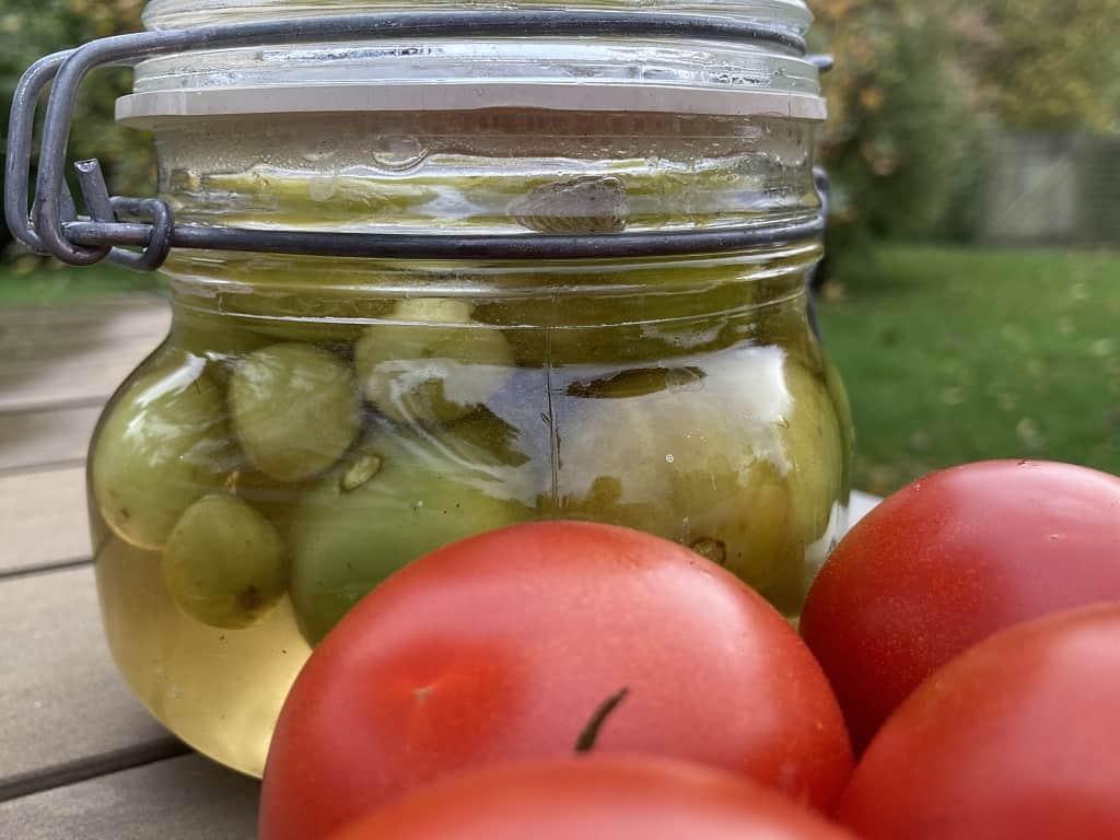 Syltede grønne tomater - hurtig og nem opskrift
