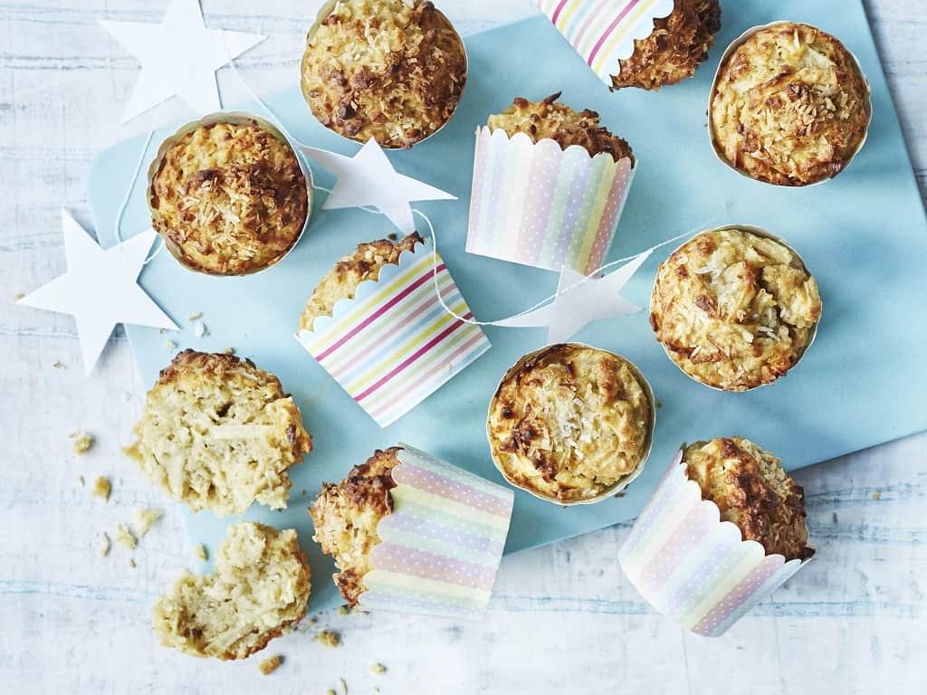 Æblemuffins med kokos er både til hverdag og fest