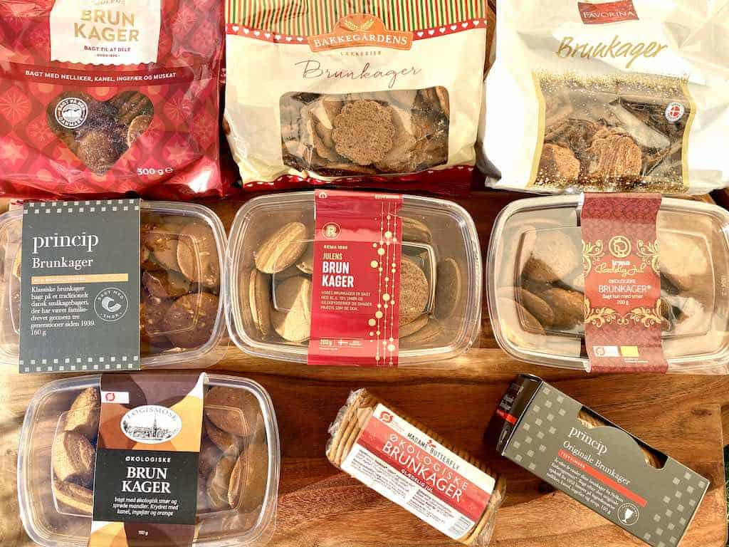 Juletid er brunkagetid, men hvilke skal du vælge? I denne smagstest af brunkager har vi testet disse ni forskellige varianter. Foto: Charlotte Mithril / Madensverden.dk